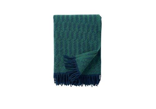 Klippan Tage plaid, donkerblauw lamswol 130 x 200 cm