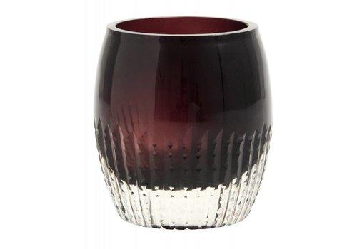 nordal Theelichthouder glas burgundy