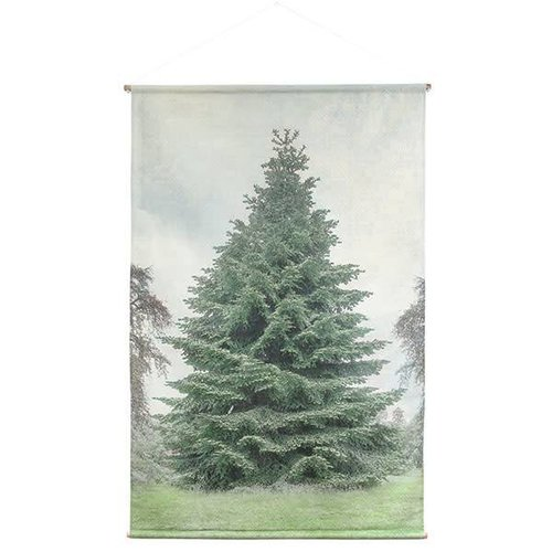 HK Living kerstboom wandkaart extra large