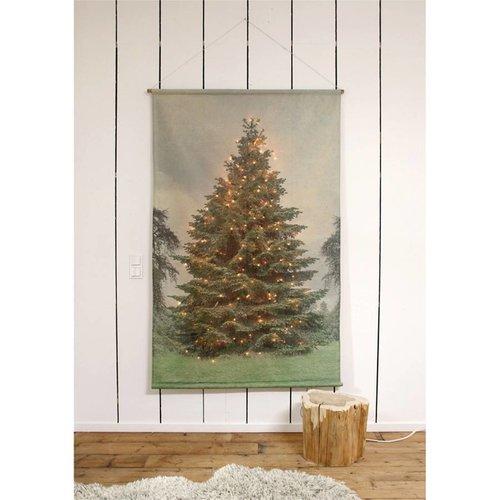 HK Living kerstboom wandkaart extra large