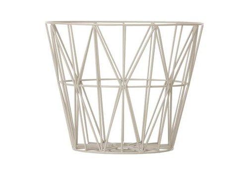Ferm Living wire basket opbergmand Grijs Diameter 50 cm