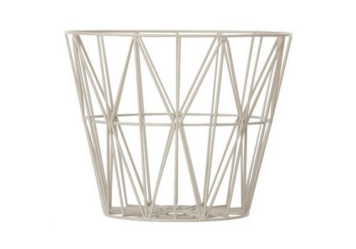 Ferm Living wire basket opbergmand Grijs Diameter 60 cm