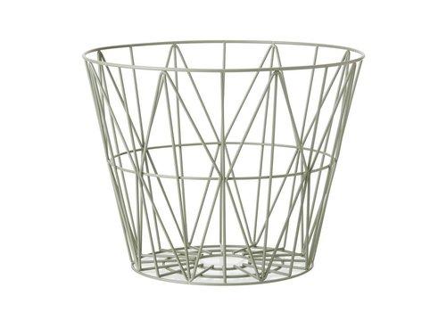 Ferm Living wire basket opbergmand Groen Diameter 40 cm