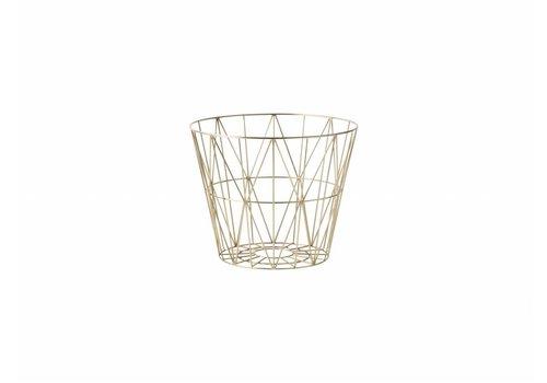 Ferm Living wire basket opbergmand Messing Diameter 40 cm