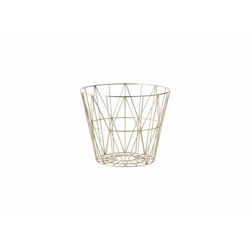 Ferm Living wire basket opbergmand Messing Diameter 50 cm
