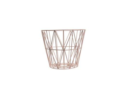 Ferm Living wire basket opbergmand Roze Diameter 40 cm