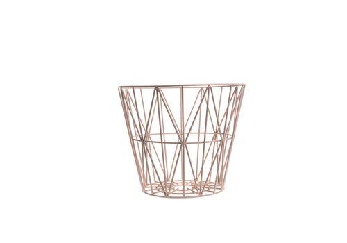 Ferm Living wire basket opbergmand Roze Diameter 50 cm