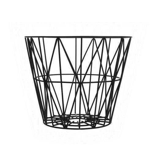 Ferm Living wire basket opbergmand Zwart Diameter 50 cm