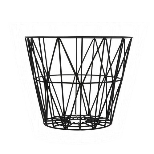 Ferm Living wire basket opbergmand Zwart Diameter 60 cm