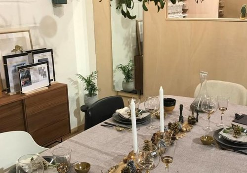'Under the mistletoe' kersttafel