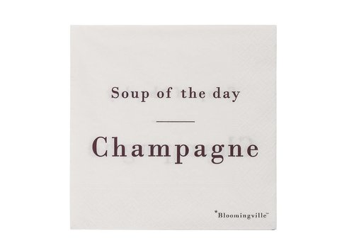 Bloomingville papieren servetten soup of the day: champagne