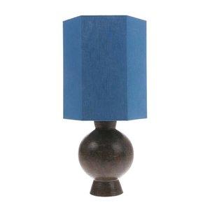 HK Living Hexagonale lampenkap blauw linnen M
