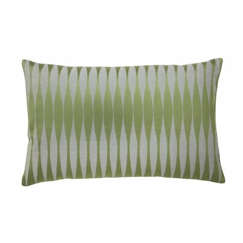 Bungalow Geborduurd kussen 33 x 50 cm Backgammon Celadon