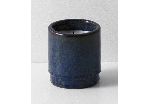 Ferm Living Geurkaars met keramische pot blauw
