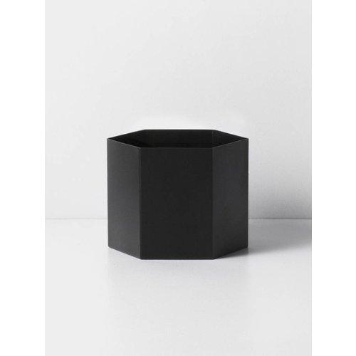 Ferm Living Hexagon bloempot XL Zwart