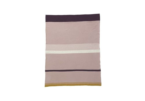 Ferm Living Little Stripy Blanket - Rose