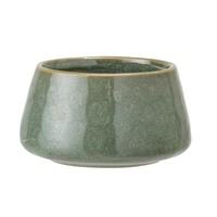Theelichthouder keramiek, groen