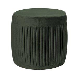Bloomingville Poef, groen polyester