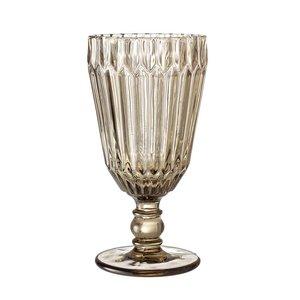 Bloomingville Ijscoupe/ wijnglas bruin getint glas 8xh16cm
