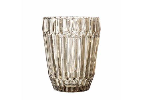 Bloomingville Waterglas bruin getint glas 8xh10cm