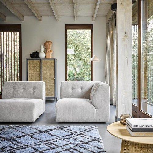 HK Living Berbertapijt blauw/grijs wol