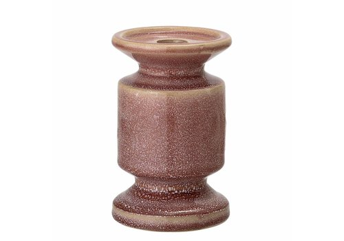 Bloomingville Roze kaarshouder, keramiek
