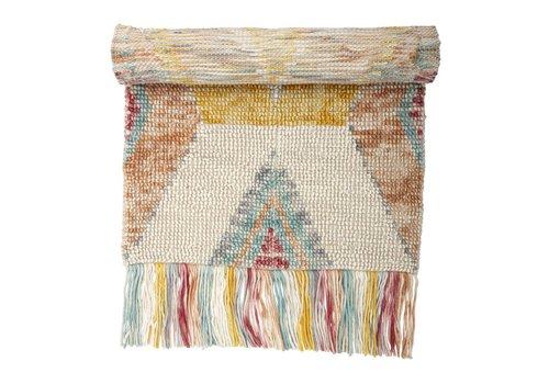 Bloomingville Wollen tapijt meerkleurig 90 x 150 cm