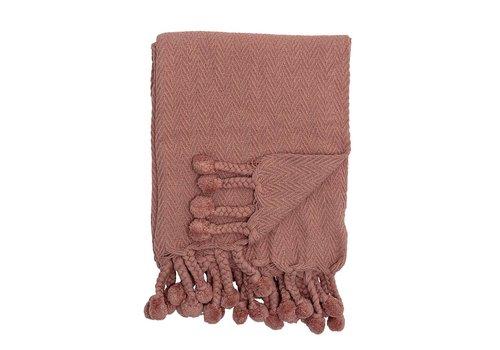 Bloomingville Rood katoenen deken