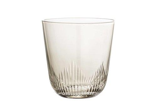 Bloomingville Waterglas bruin getint glas 9x9,5cm