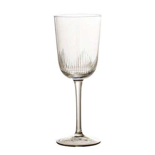 Bloomingville Wijnglas bruin getint glas Ø7,5 cm
