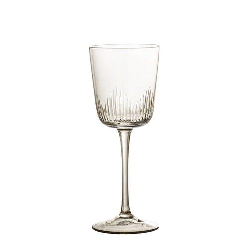Bloomingville Wijnglas bruin getint glas Ø8 cm