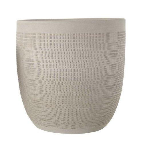 Bloomingville Collected witte keramieken bloempot Ø31 cm