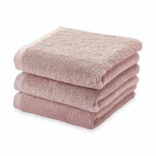 Aquanova London handdoek stoffig roze 55 x 100