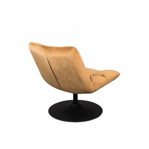 Dutchbone Bar fluweel lounge stoel golden brown