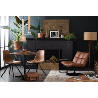 Bar loungestoel bruin (PU leer)