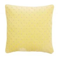Kussen met borduurwerk geel velours
