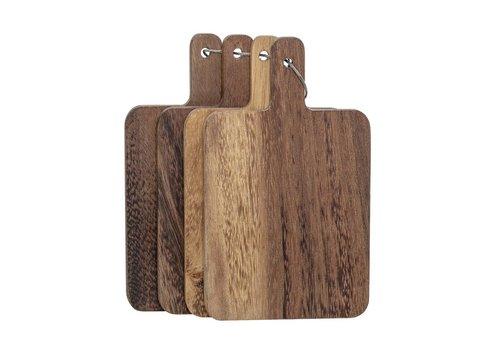 Bloomingville Tapasplankjes acacia bruin - set van 4