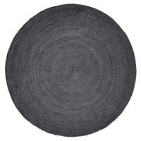 Jute rond tapijt zwart Ø 150