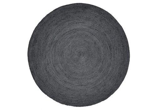 nordal Jute rond tapijt zwart Ø 150cm