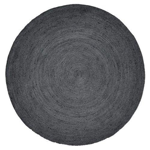 nordal Jute rond tapijt zwart Ø 150