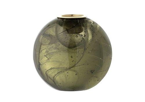 Bloomingville Kaarshouder in glas Ø 7.5 cm Groen
