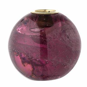 Bloomingville Kaarshouder in glas Ø 7.5 cm Paars
