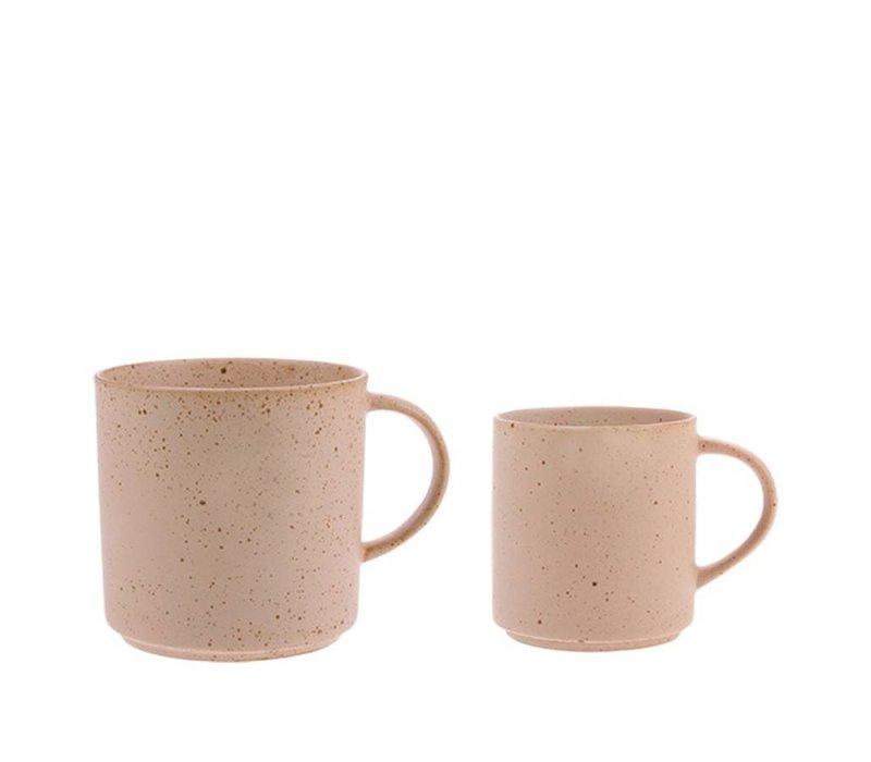Bold & basic gespikkelde koffie mok nude