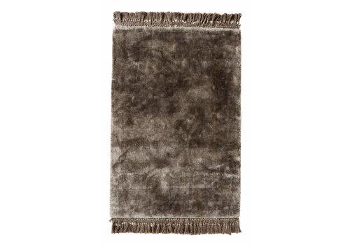nordal Noble tapijt warm grijs met franjes