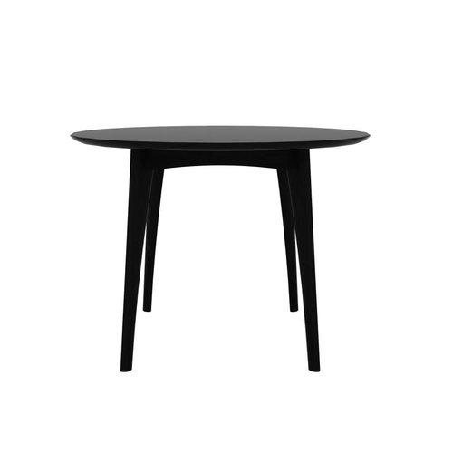 Ethnicraft Osso 88 cm hoge ronde eettafel Ø 120 cm eik zwart