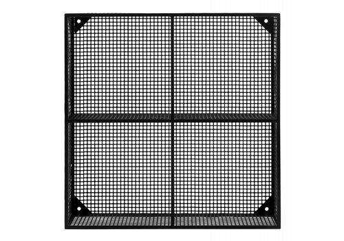 nordal Wire box wandkast 4 planken zwart