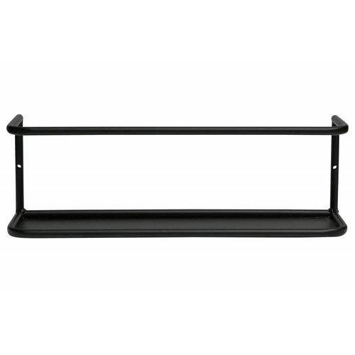 WOOOD Myrthe wandplank L zwart 40cm