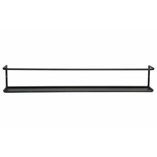 WOOOD Myrthe wandplank XL zwart 80cm