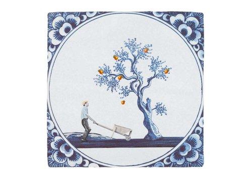 StoryTiles tegel De appel valt niet ver van de boom 10x10 cm