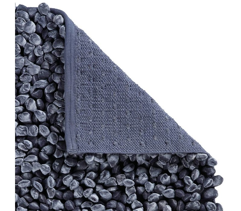 Rocca badmat 60x60 cm steenblauw